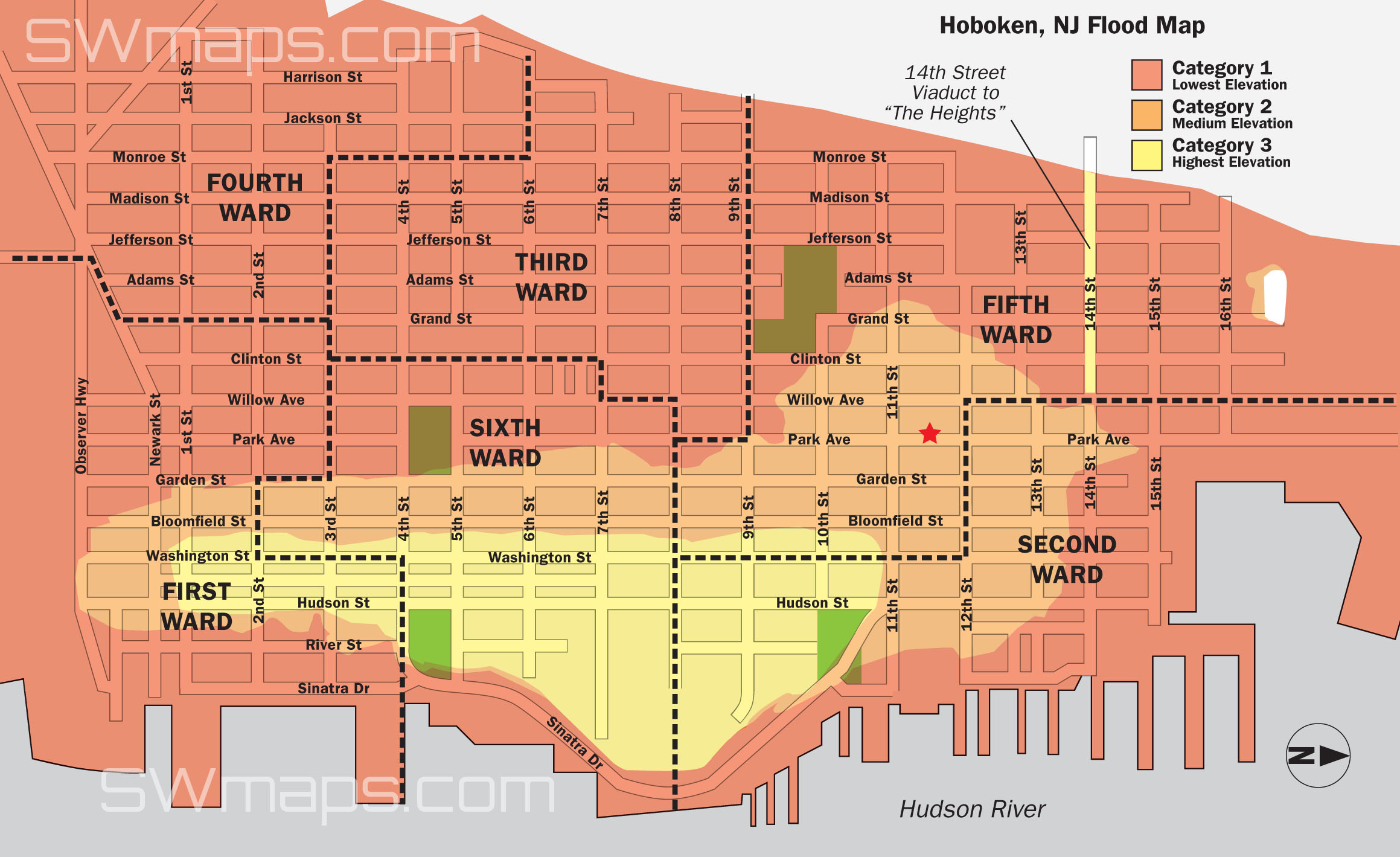 Sandy Flood Map Hoboken Flood Map Post