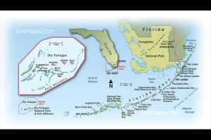 Florida Keys Dry Tortuga Map