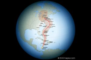 Hurricane Sandy Track Path Globe
