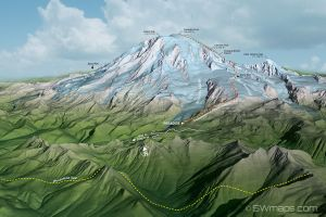 Mount Rainier Map