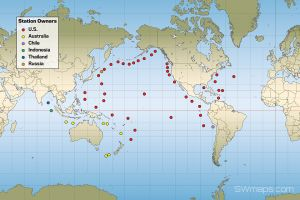 World Tsunami Sensor Map
